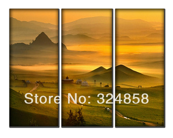 Mountain Landscape Modern Art Oil Painting Pictures Printed On Canvas Vintage Home Decor For Living Room Wall Art Interior decor