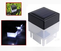 10X Solar Powered Fence Post Pool Garden LED White Light