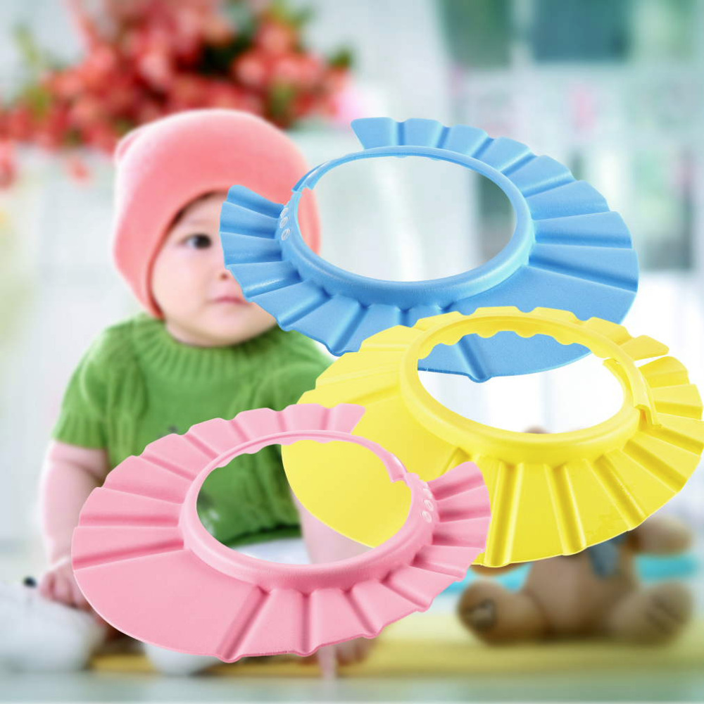 1pcs Baby Shower wash hair Shield Hat cap Protects your baby or toddler's eyes YKS(China (Mainland))