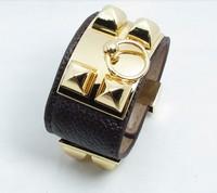 free ePacket shipping bracelets & bangles HOT new sale leather H bracelet many color buckle punk Bracelet H Bangle