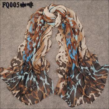 Min order $15 Free Shipping!2015 Hot Women's Fashion  special leopard printed Design chiffon georgette silk like scarf/ shawl!