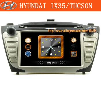 Free Shipping Car Dvd Player FOR HYUNDAI IX35 / TUCSON 2010 2009 2011GPS Radio With Gift 4GB Map Card Ipod Bluetooth
