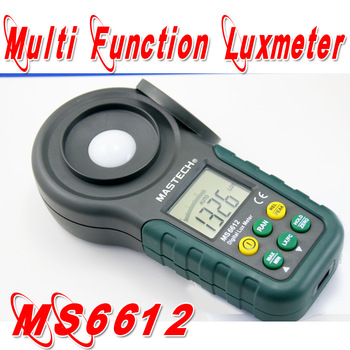 Freeshipping Digital Multi function Luxmeter Mastech MS6612 High Accuracy 200,000 Lux  Light Meter Test spectra Auto range