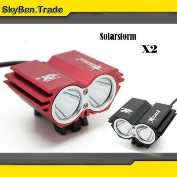 [BLACK] SolarStorm X2 Bike Light 2*CREE XM-L U2 4 Modes LED 2000LM Dual Head Bicycle light/bicycle front light + FREE SHIPPING