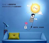 DIY Paper Wall Lamp Cartoon Atmosphere night Light Novelty Wallpaper Lamp dog pig sunflower for choose +free shipping