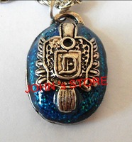 Freeshipping wholesale 20pc a lot New Vampire Diaries Damon's ring Pendant with Chain- Blue Lapis Stone BB32