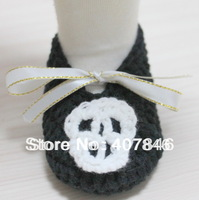 Baby crochet shoes skull halloween first walker shoes infant slippers 16pairs/lot  cotton yarn custom