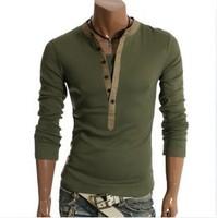 Mens Designer Casual V Neck T-Shirts Tee Shirt Slim Fit Tops New Long sleeve t-shirt  M L XL XXL