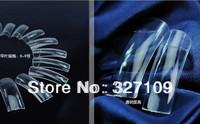 Nail art tools Half / Full transparent Clear Natural Acrylic False Nail Sclerite  Begin Fake French Nail Tips 500pcs