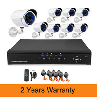 700TVL 1080P HDMI 8CH Surveillance DVR Recorder System 36 LEDs IR CUT indoor/outdoor Weatherproof Security Camera DIY CCTV Kit
