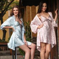 2015 Free shipping super high quality women's lady's silk lounge sexy elegant  sleepwear pajamas nightgown