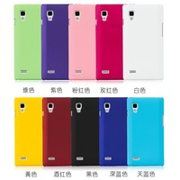 Free Shipping! Rubberized Hard Matte Case for LG Optimus L9 P760 Plastic Back Skin Hard Rubber Case,  LGC-002