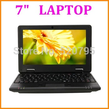 Cheap 7 inch Laptop VIA8880 cpu 1.5Ghz Mini Laptop Notebook Netbook Android 4.2 Build-in WIFI HDMI Camera