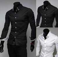 Men's business shirts,Long-sleeved Slim Men's wear,Casual shirts for gentleman,Free shipping