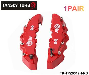 Tansky - BREM** Look Brake Caliper Cover Kit Front 2pcs default color is red 1Pair TK-TPZ0312H-RD