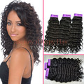 100% Brazilian Virgin hair extensions 10''- 30'' Cheap hair weaving1B# deep wave weft 100g/pc Free shipping 3pc/lot