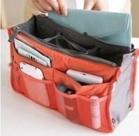 Wholesale Women Insert Multi Bag Purse Cosmetic Storage Organizer Bag Handbag Makeup Tidy Travel Bag In Bag Free/Drop Shipping
