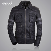 THOOO Brands Resident Evil 6 Leon Kennedy Game pu Leather Jacket coat cavalier size M L XL 2XL 3XL 4XL 5XL