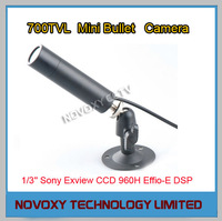 700TVL IP66 Waterproof Mini Covert Tube Bullet Camera 1/3'' Sony CCD 960H Effio-E DSP Starlight 0.001Lux 3.6mm Lens w/Bracket