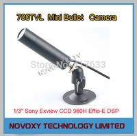 700TVL IP66 Waterproof Mini Covert Tube Bullet Camera 1/3'' Sony CCD 960H Effio-E DSP Starlight 0.001Lux 3.6mm Lens w/Bracket