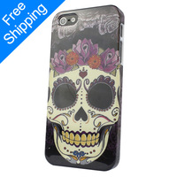 Fashion Hot Sale Gift New Skull Bone Hard Back Cover Skin Case For Apple iphone 5 5S 4 4S  Free shipping&Wholesale X-418