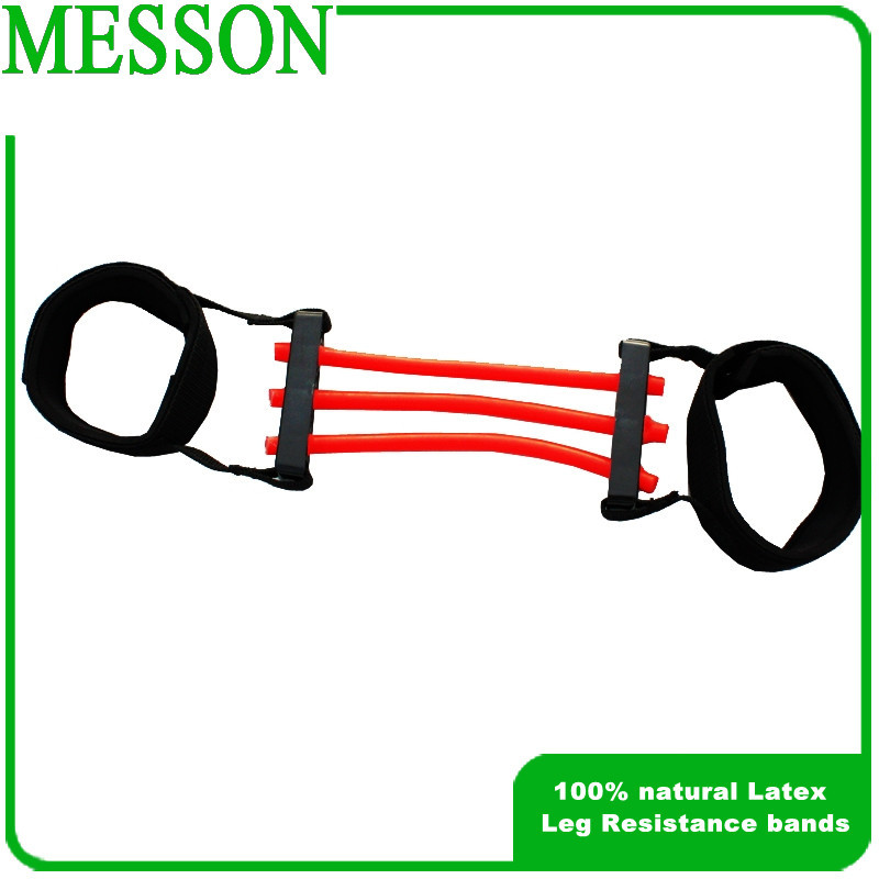 Free Shipping Lateral Resistor resistance bands double layer Sports Trainning Bands leg trainer leg exerciser(China (Mainland))