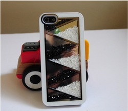 6Pcs Swarovski Crystal Rainbow series Cover Casee For iPhone 4 4s+Free Shipping By HK Post(China (Mainland))