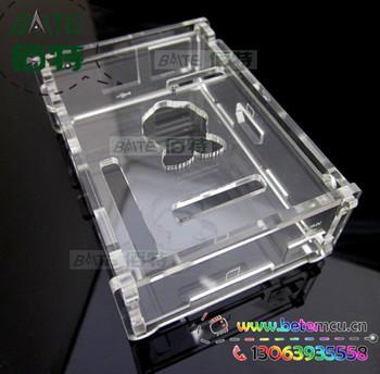 Enclosure Kit for Raspberry Pi Computer + pure aluminum heat sink set kit (3pcs/kit)