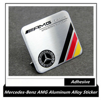Mercedes-Benz AMG Powered by 3D Aluminum alloy stickers, AMG emblem metal adhesive sticker