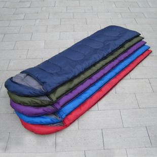 Outdoor camp cotton sleeping bags envelope slumber bag nylon camping equipment trip ultra-thin ultra-light sleeping bag