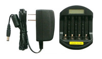 LiFePO4 14500/10440 NiMH AA/AAA LCD Quick Battery Charger(USB 5V+DC 12V)