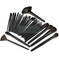 Promotion!Lowest Price! 32 pcs 32pcs Cosmetic Facial Make up Brush Kit Makeup Brushes Tools Set + Black Pouch Bag