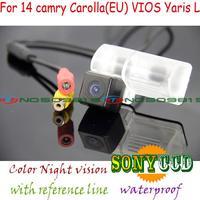 wireless Car rear buckup camera For sony ccd 2014 Toyota New Corolla EU Yaris L Vios HD night version Parking Assistance