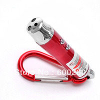 Free shipping 3 in 1 Laser Pointer LED Flashlight Torch Keychain #8044