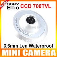 "1/3"" Sony Super HAD CCD II  700TVL 3.6mm Len Waterproof CCTV Camera The Shape Of UFO Security Camera"