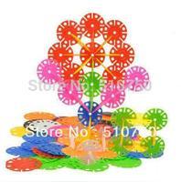 Free Shipping 300pcs Colorful Plastic Snowflake Blocks Educational Intelligence Toy Jouet Plastique flocon de neige Puzzle