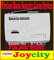 Home Alarm System  Wireless GSM Security Alarm System Intelligent Burglar GSM Alarm PIR Door Sensor Free Shipping Joycity