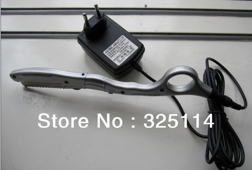 One ultrasonic hot razor+One box spare Razor Blades (10pcs), for hair cut, Wholesale, human hair extension, beauty salon use(China (Mainland))