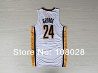 Free shipping,2013 new material  Rev 30 jersey,Embroidery logos,#24 Paul George basketball jersey,size S-3XL