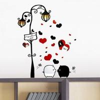 free shiping DIY black/ white pig background wall sticker for home/kid room decor 50*70 cm vinyl   sticker