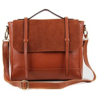 2015 Brand Fashion Genuine Leather Women Handbags Cow Leather Lady College Shoulder Bag Business Messenger Bags Free Shipping