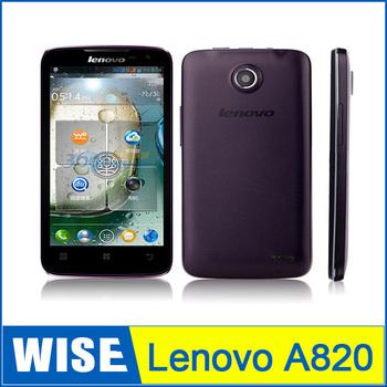 Free shipping Original Lenovo A820 MTK6589 Quad Core Android 4.1 Mobile Phone 4.5'' IPS Screen Camera Wifi Bluetooth / Blake