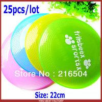 Free Shipping Super soft flexible Pet dog frisbee 25pcs/lot Harmless Garden beach Dog training flying saucer Dish Plate Disc toy