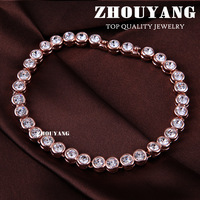 ZYH027 Simple Crystal 18K Rose Gold Plated Bracelet Jewelry Made with Genuine SWA ELEMENTS Austrian Crystal Wholesale