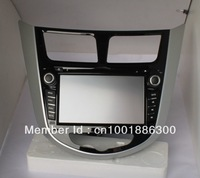 7inch hyundai verna solaris hd DVD player Window CE 6.0 system FM/AM MP3/4 USB SD Bluetooth IPOD GPS Free Shipping