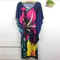 Short Sleeve Novelty Floral Ruffles bohemian Geometry Stripes dots Big Plus Size Mini Blouse Dress B8827A  Bodycon