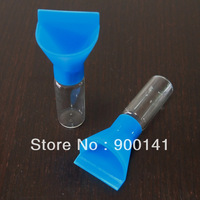 1 dram 15*45mm clear glass vials with funnels, super deal vials jars oils snuff storage