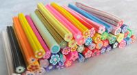 50pcs Flower type Fimo Canes Rods Sticks Sticker DIY Slice Tips Decoration B205  FREE SHIPPING