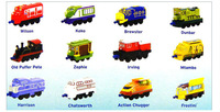 5 pcs/lot mix Chuggington Diecast Train metal 10cm alloy mini toy children's gift