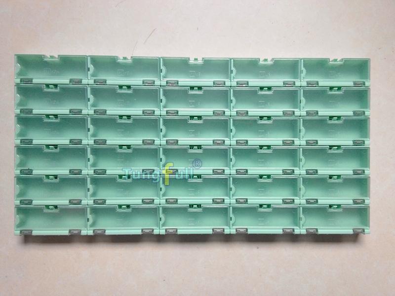30 шт электронной случае комплект компонентов для хранения коробки контейнеры зеленый и более крупные украшения storeages дело